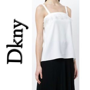Dkny Feather Embellished Top NWT Small